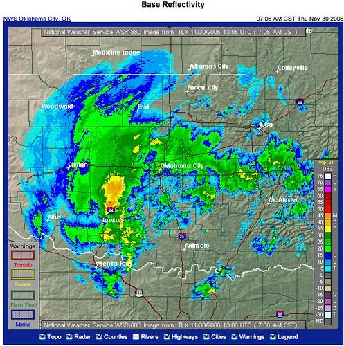 Okc Weather Radar 30 Nov 06 Flickr Photo Sharing