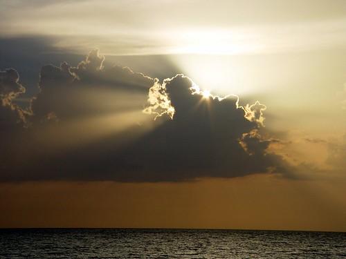 ocean sunset sea summer beach clouds island photography coast gulf florida palm
