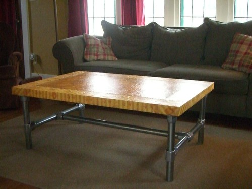 Coffee Table with Decopaged IKEA Top