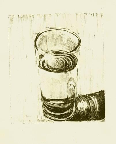 Ilustración: un vaso (medio lleno o medio vacío)