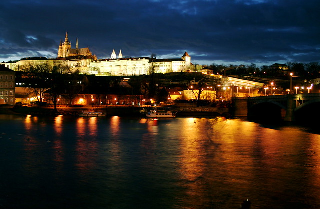 Prague Castle at night - Flickr CC jenni40947