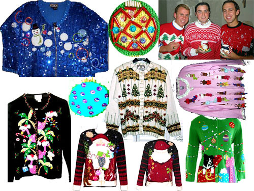 Holiday Sweaters Worn  by  Hot Nude Teens