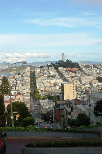 From the top of Lombard Street.