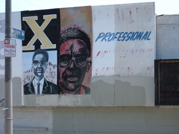 Malcolm x mural for Malcolm x mural