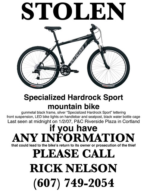 how to find a missing bike