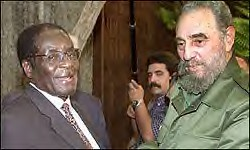Robert Mugabe of Zimbabwe and Fidel Castro of Cuba. The two nations have a long record of solidarity and mutual cooperation. by Pan-African News Wire File Photos