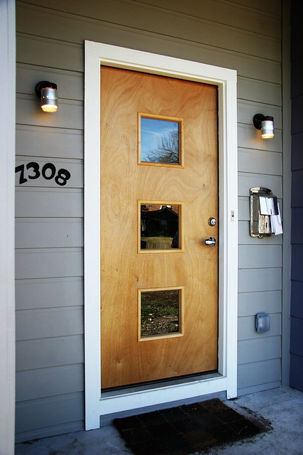 Mid century modern door flickr photo sharing for Entrance door design for flats