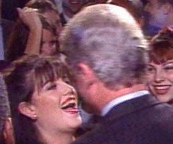 Monica Lewinsky and Bill Clinton by lloydletta