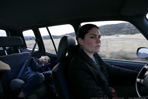 rachel, driving from cuyamaca to julian    MG 0049