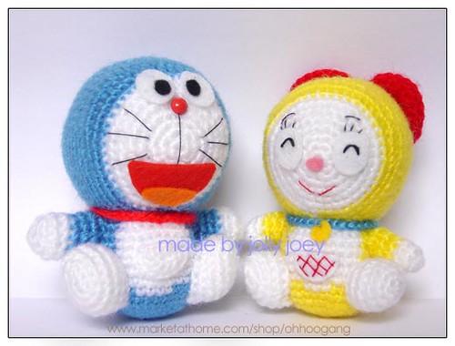 Amigurumi Doraemon Tutorial : Amigurumi ~Doraemon&Doremi~ Flickr - Photo Sharing!