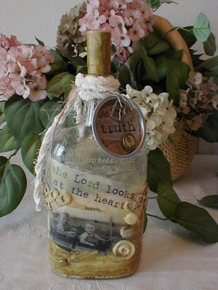altered art bottle