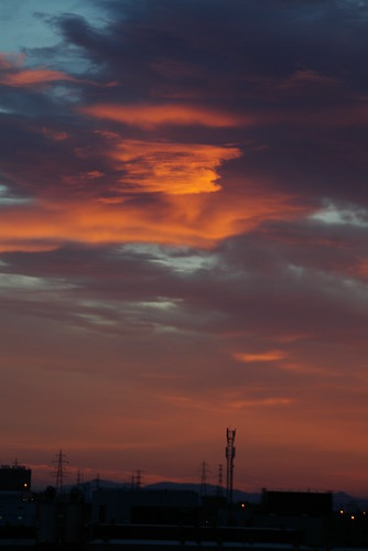 barcelona españa sunrise landscape dawn paisaje amanecer terrassa pentaxk10d