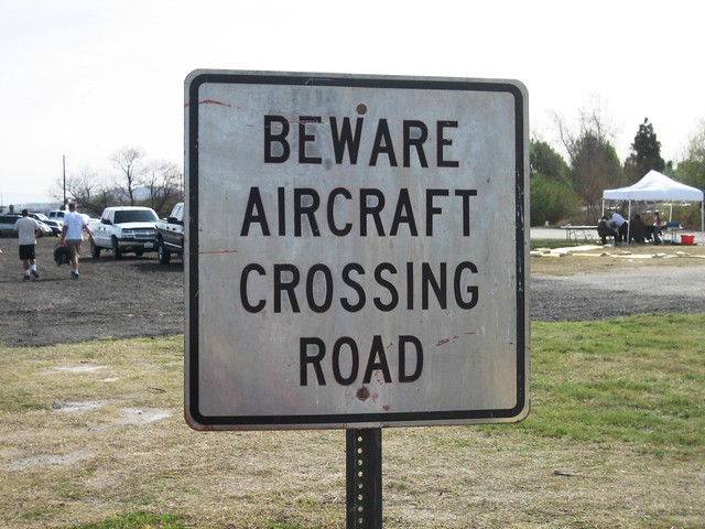 Aircraft Road Crossing Sign