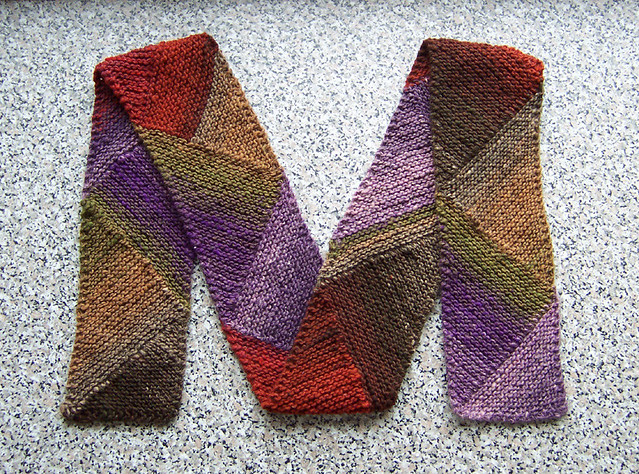 M For Multidirectional Diagonal Scarf Patten Found Her Flickr