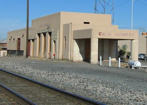 Casa Grande, AZ train station (destroyed by fire 6/09)