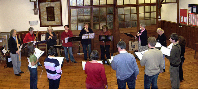 Piping Hot & Rudsambee practice in Allonby Village Hall