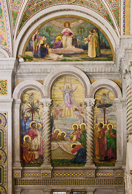 Cathedral Basilica of Saint Louis, in Saint Louis, Missouri - Our Lady's Chapel - wall mosaic 2.jpg
