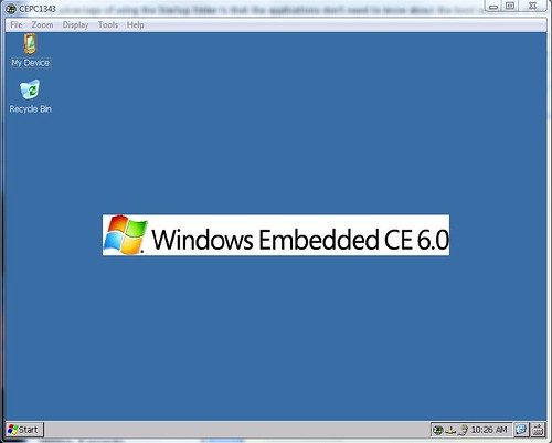 Windows CE 6.0 desktop