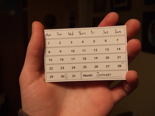 Calendar Card - January 2013 Joe Lanman