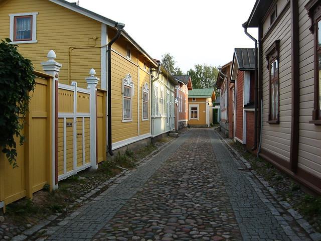 Por las calles de Rauma Antiguo