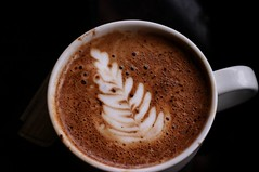 salep(0.0), espresso(1.0), cappuccino(1.0), flat white(1.0), cup(1.0), mocaccino(1.0), coffee milk(1.0), caf㩠au lait(1.0), food(1.0), coffee(1.0), coffee cup(1.0), hot chocolate(1.0), caff㨠macchiato(1.0), drink(1.0), latte(1.0), caffeine(1.0),