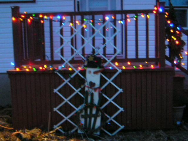 Christmas Lights On Back Railing Flickr Photo Sharing