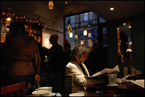 Man Reading, Caffe Nero