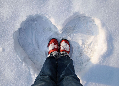A Snow Heart For You :) xoxox