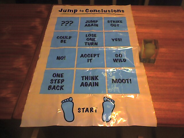 It S A Jump To Conclusions Mat Of Course Flickr Photo