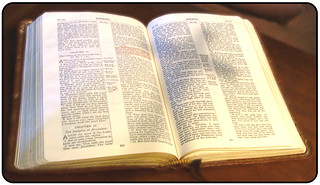 Bible with Cross Shadow by knowhimonline