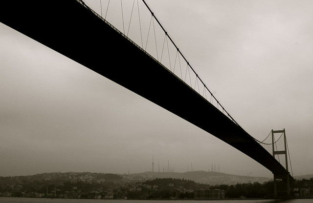 Bridge across the Bosphorus / Istanbul, Turkey.