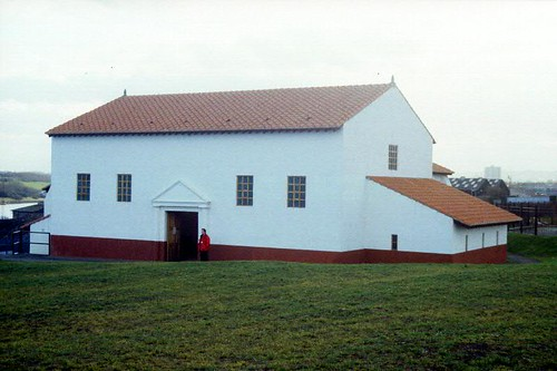 The reconstructed bath-house