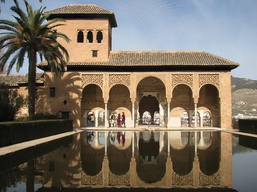 Uno de los patios de la Alhambra, Granada.