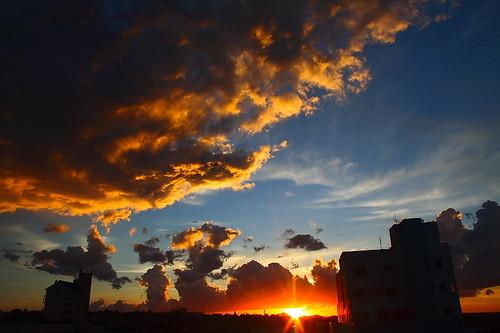 Por-do-sol em Medianeira