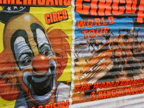 Scary Circus Posters http://www.flickr.com/photos/blaupraust/388591161/