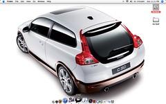 model car(0.0), race car(1.0), automobile(1.0), automotive exterior(1.0), family car(1.0), vehicle(1.0), automotive design(1.0), city car(1.0), volvo c30(1.0), bumper(1.0), volvo cars(1.0), land vehicle(1.0), hatchback(1.0),