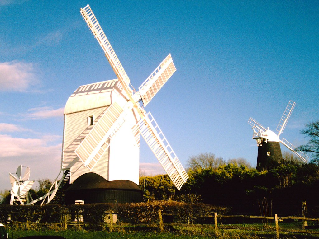 Jack & Jill Windmills Jack & Jill : Windmills at Clayton, West Sussex on the classic Hassocks to Lewes walk along the South Downs Way D.Allen Vivitar 5199 3 March 2007