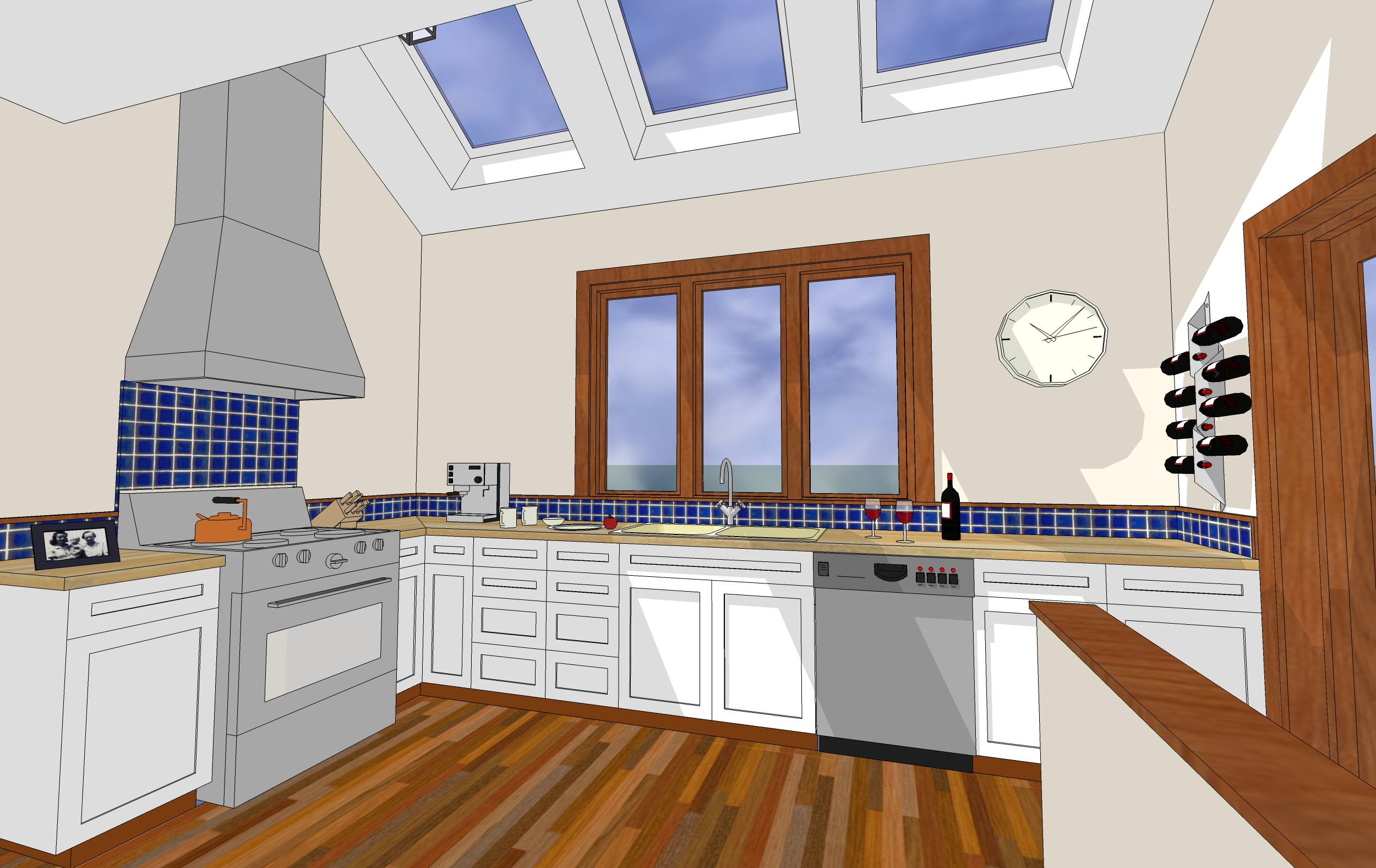 Sketchup Small Kitchen Modern