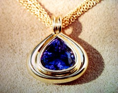 Deep blue Tanzanite...