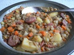 Süß-saure Linsensuppe/Sweet N Sour lentil soup