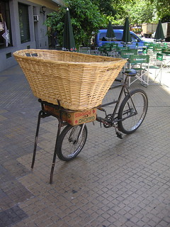 Huge bread basket on a bike