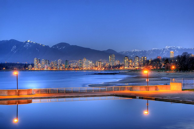 Kitsilano Beach at Dusk