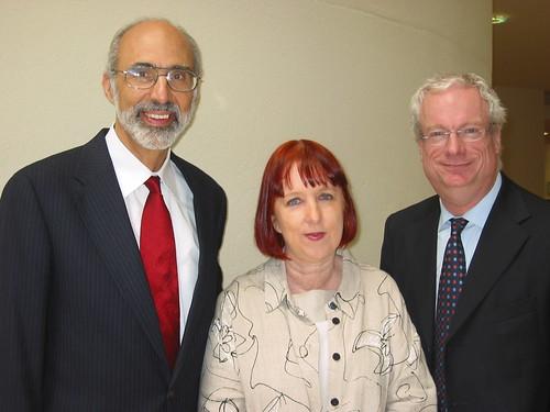 CEO Leadership Seminar team: Dr Jonathan Katz (USA), Kim Evans (England), Lord Smith of Finsbury (England)