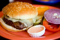 Cheese Lover's Burger at Barney's Gourmet Hamburgers
