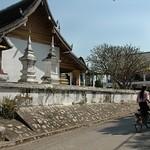 Wat and Bicycle - Luang Prabang, Laos