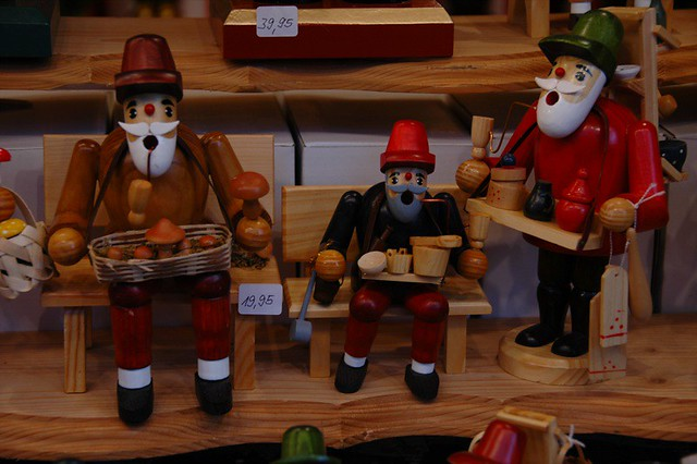 Smoking Men at Christmas Market - Dresden, Germany