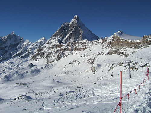 Cervinia-Valle d'Aosta has the deepest snow in Italy