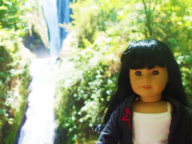 Inky at Bridal Veil Falls