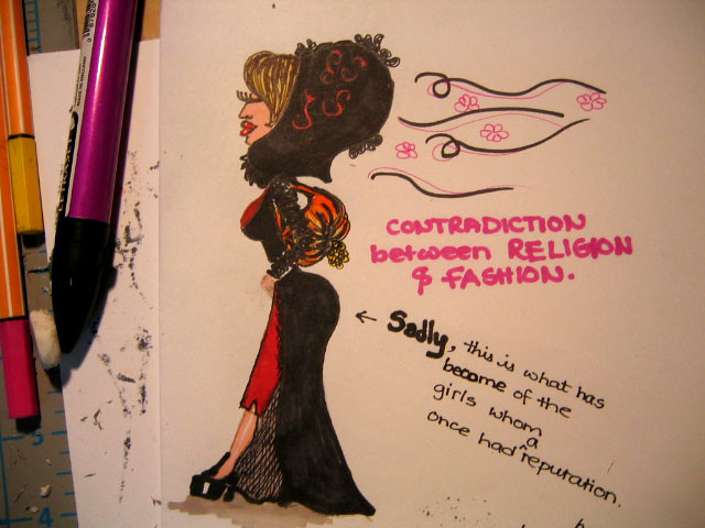 contradiction between religion & fashion, Canon DIGITAL IXUS IIS