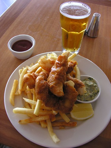 Fish and Chips at the Opera House cafe